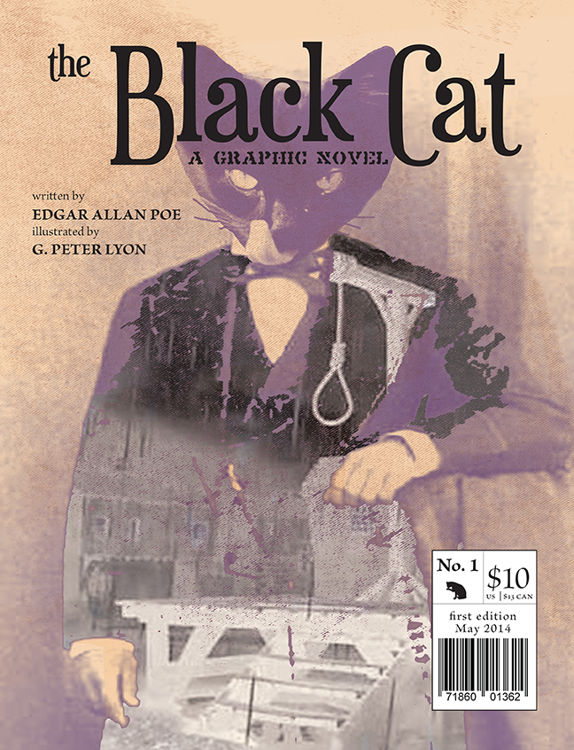 Cover for a graphic novel I created based on Edgar Allan Poe's Black Cat
