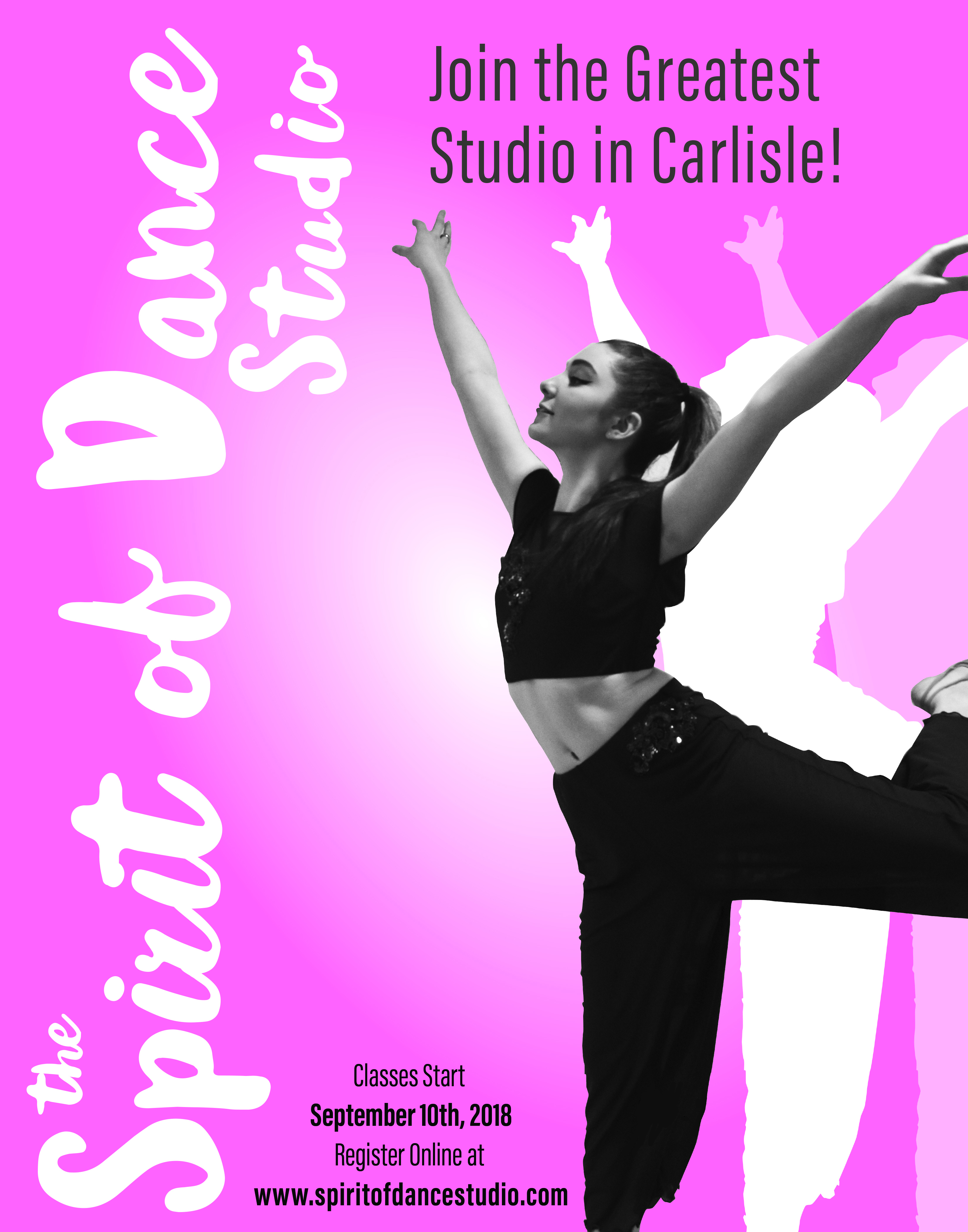 poster for local dance studio