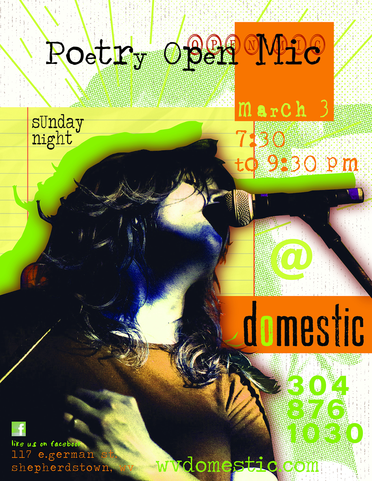 Poetry Open Mic at domestic